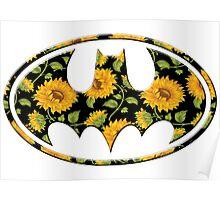 Sunflower Batman Poster