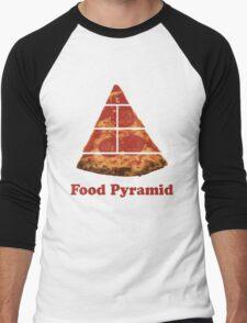Food Pyramid Pizza Men's Baseball ¾ T-Shirt