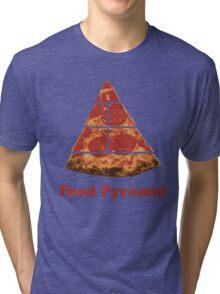 Food Pyramid Pizza Tri-blend T-Shirt
