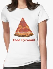 Food Pyramid Pizza Womens Fitted T-Shirt