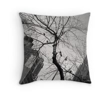 Birds One Way at Second Throw Pillow