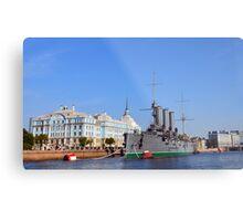 Russian Cruiser Aurora Metal Print