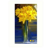 Darling Daffies Art Print
