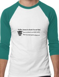 Ociffer. Iswear to drunk I'm not God. Men's Baseball ¾ T-Shirt