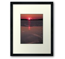 fire & ice Framed Print
