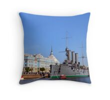 Russian Cruiser Aurora Throw Pillow