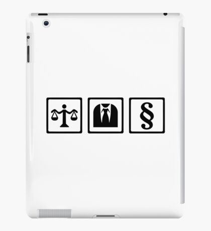 Lawyer scale suit iPad Case/Skin