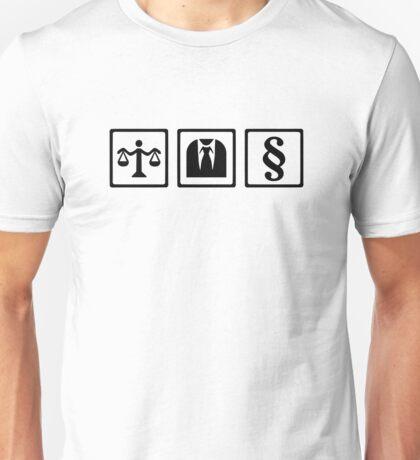 Lawyer scale suit Unisex T-Shirt