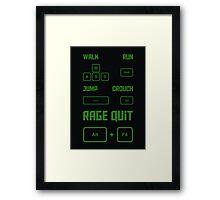 Gamer Controls Framed Print