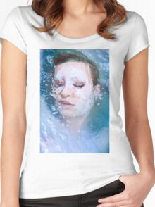Blue of Noon - erotic nude cool water sexy nature crazy power proud woman awesome Women's Fitted Scoop T-Shirt