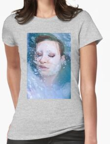 Blue of Noon - erotic nude cool water sexy nature crazy power proud woman awesome Womens Fitted T-Shirt