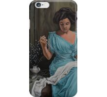 Vintage, Oil painting woman iPhone Case/Skin