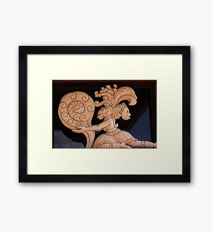 mayan warrior Framed Print
