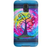 Blue Gratitude with Bubbles Samsung Galaxy Case/Skin