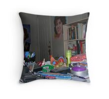 my drawing table Throw Pillow