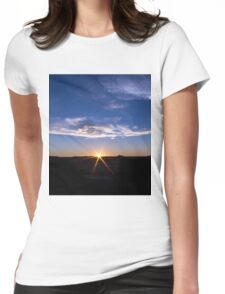 Texas Sunset Womens Fitted T-Shirt