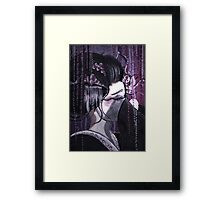 Geisha in Wisteria: The Timid Concubine Framed Print