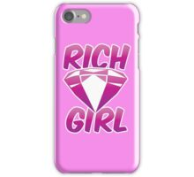 RICH GIRL with pink diamond iPhone Case/Skin