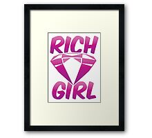 RICH GIRL with pink diamond Framed Print