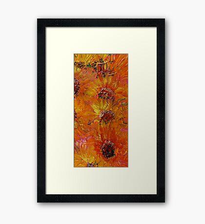 Textured Sunflowers Framed Print