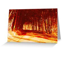 Tunnel fire Greeting Card