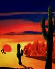 Cactus Sunset by LaNae