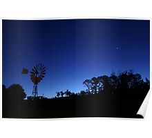 Windmill after Dark Poster
