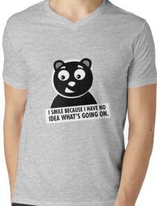 Naughty Bear Mens V-Neck T-Shirt