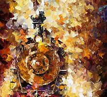 Train Of Hapiness — Buy Now Link - www.etsy.com/listing/224031494 by Leonid  Afremov