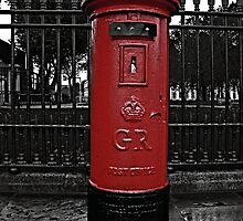 Red London Pillar Box by Claire Doherty