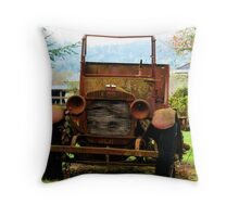 Old Commerce Farm Truck Throw Pillow
