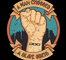 A man chooses a slave obeys from Bioshock Infinite by xglowbit