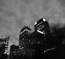 Friday Night City Lights - Drive By by Ann Barnes