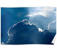 Sun Kissed Storm Cloud Poster