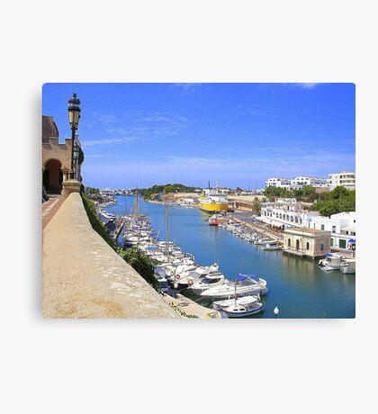 Ciutadella Harbour Canvas Print