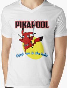 Pikapool Mens V-Neck T-Shirt