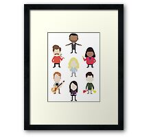 The Parks and Rec Family Framed Print