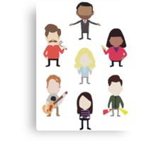 The Parks and Rec Family Canvas Print