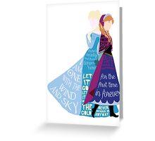 Elsa and Anna Greeting Card