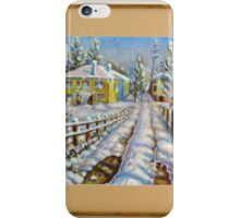 Winter at the Village iPhone Case/Skin