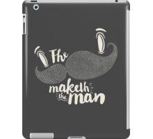 The Moustache Maketh iPad Case/Skin