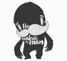 The Moustache Maketh The Man  Kids Tee