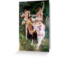 Nymphs and Satyr after W. Bouguereau  Greeting Card