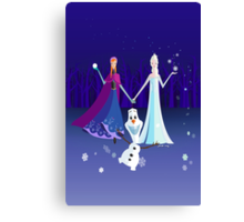 Origami - Do you want to build a snowman Canvas Print