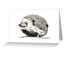 Hedgehog watercolour and ink Greeting Card