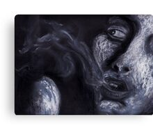Charcoal + oil pastille mix  Canvas Print