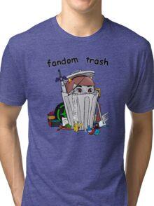 Fandom Trash Logo Tri-blend T-Shirt