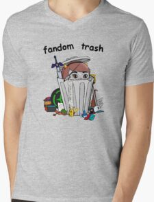 Fandom Trash Logo Mens V-Neck T-Shirt