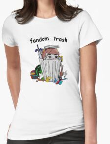 Fandom Trash Logo Womens Fitted T-Shirt