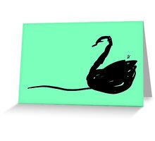 Green swan Greeting Card